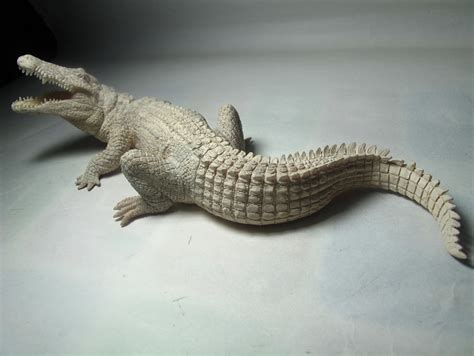 Papo White new papo animal figure white crocodile ebay