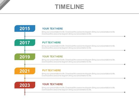 Year Based Vertical Timeline For Business Powerpoint Slides Vertical Timeline Template Powerpoint
