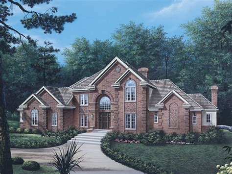 2 story brick house plans briarcrest luxury two story home plan 006d 0002 house