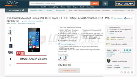 Microsoft Lumia Lazada microsoft lumia 650 to be available in malaysia this april for rm 899 lowyat net