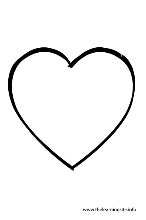 coloring page heart shape heart shape outline
