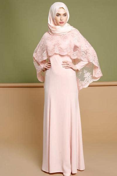 Baju Busana Muslim Untuk Pesta Iska Cape Maxi Dress nah ini 5 inspirasi model kebaya muslim lamaran yang lagi hits banget di 2017 muslim