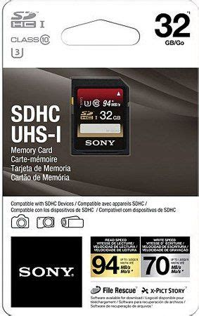 Sale Sony Sdhc Uhs I Class10 32gb Up To 94mbps sony sf32ux2 tq high speed uhs i sdhc u3 class 10 32gb memory card 94 mb s maximum read speed