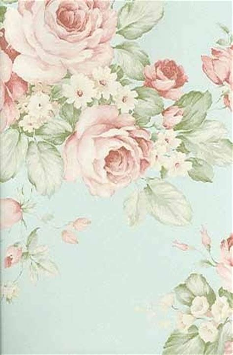 soft english rose wallpaper shabby chic vintage decor