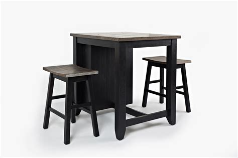 3pc pub table set jofran county 3pc counter height set stoney