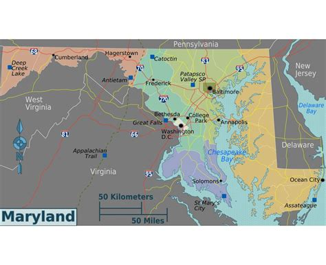 road map of maryland usa maps of maryland state collection of detailed maps of