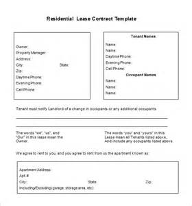 residential lease template free 9 lease contract templates free word pdf documents