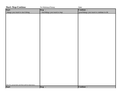 start stop continue template start stop continue worksheet the best and most