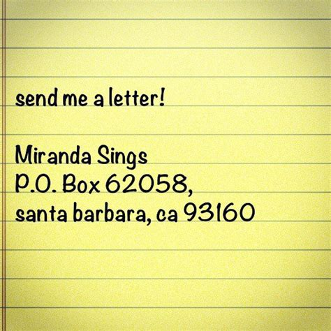 fan address miranda sings on quot send me fan mail can t wait to