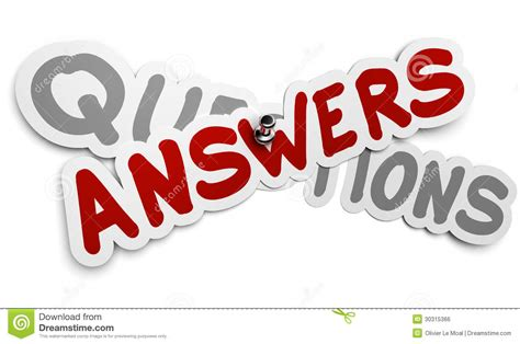 questions and answers royalty free stock image image 30315366