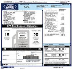 Ford Window Sticker Generator Ford F 150 Window Sticker Generator
