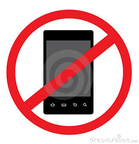 no smoking sign android no android smart phone vector royalty free stock