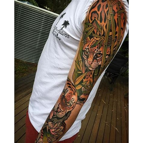 jungle sleeve tattoo 17 best images about neotraditional tattoos on
