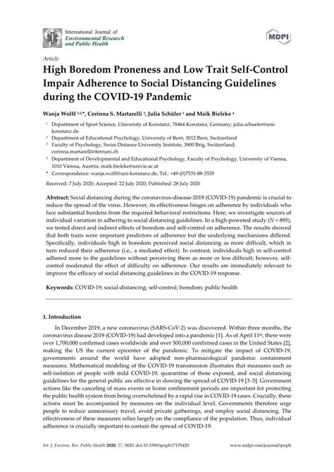(PDF) High Boredom Proneness and Low Trait Self-Control