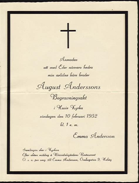 august andersson s funeral invitation