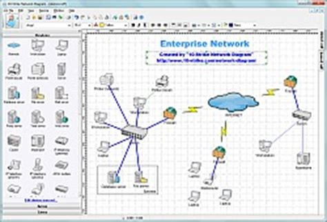 visio network discovery 10 strike network diagram software for creating topology