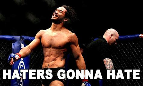benson henderson back tattoo image 198861 haters gonna your meme