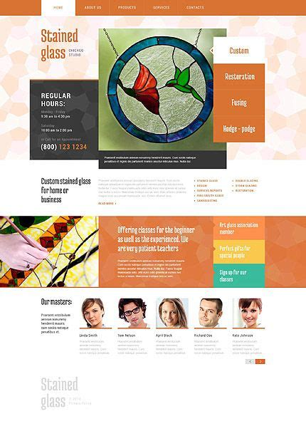 Template 52076 Stained Glass Bootstrap Website Template Bootstrap Website Templates Glass Website Templates