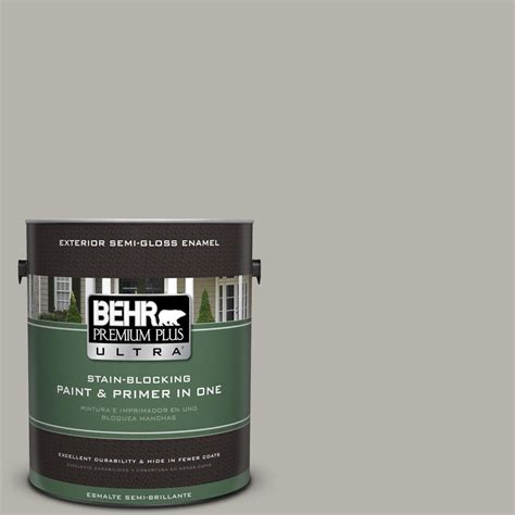 behr exterior paints behr premium plus ultra 1 gal ppu24 11 greige semi gloss