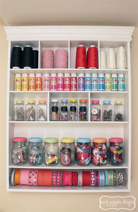 craft room storage ideas craftaholics anonymous 174 small craft room tour giggles designs