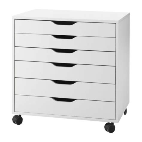Drawers On Castors alex drawer unit on casters white ikea