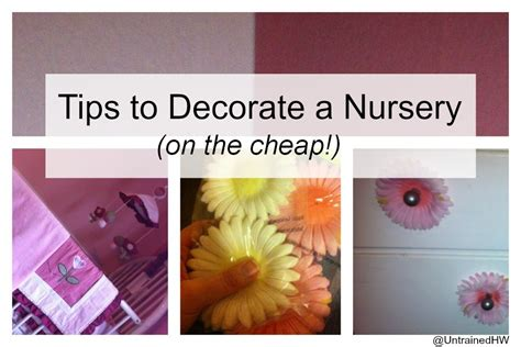 cheap nursery decorating ideas tips to decorate a nursery on the cheap