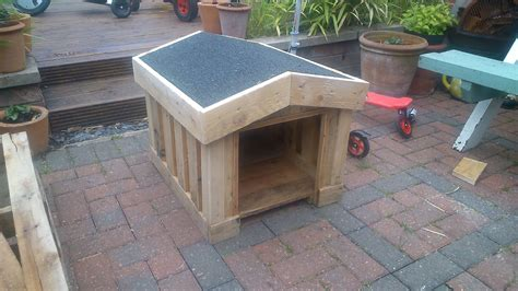 dog house made out of pallets how to build a small dog kennel out of pallets ste youtube
