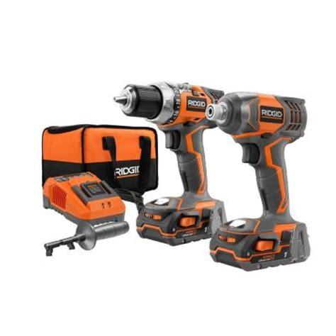 ridgid 18 volt compact drill and impact driver kit r9600sb