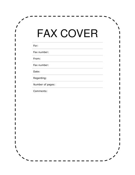 free cover sheet template free printable fax cover sheet pdf word template sle