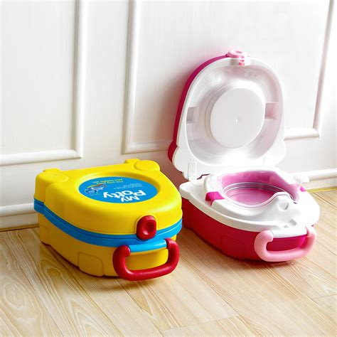 portable potty seat free shipping travel baby toilet vehicle mounted basin