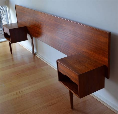 Bed And Bedside Tables Retro Mid Century Modern Teak Bed