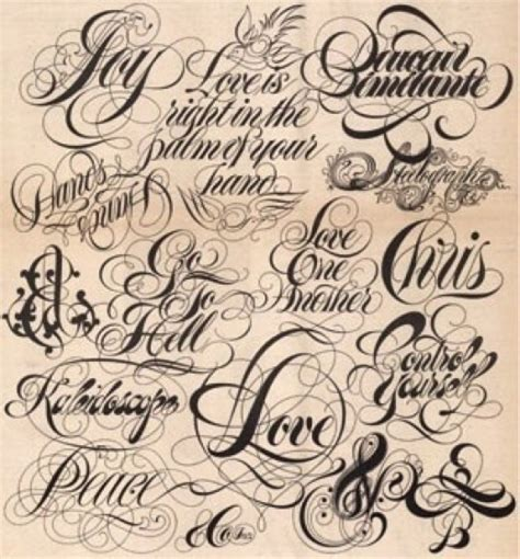 tattoo fonts names calligraphy fonts and lettering for your new