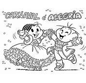 Desenho Para Colorir De Carnaval