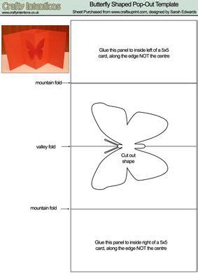 pop out card templates butterfly pop out card template cup19743 172 craftsuprint