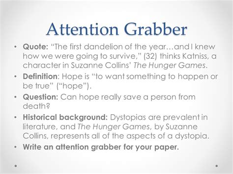hunger games themes hope attention grabber bing images