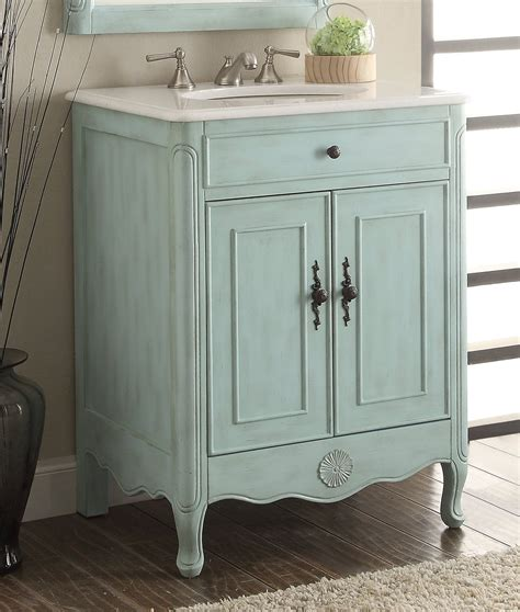 Cottage Style Vanities For Bathrooms by 26 Quot Cottage Style Pastel Light Blue Daleville Bathroom