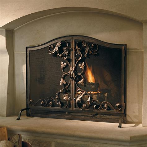 Forged Fireplace Screen by Forged Iron Fireplace Screens Frontgate
