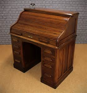 Small Oak Roll Top Desk Small Oak Roll Top Desk C 1920 Antiques Atlas