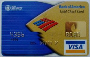 Buy Bank Of America Visa Gift Card - bank card gold check card bank of america united states of america col us vi 0001 02a