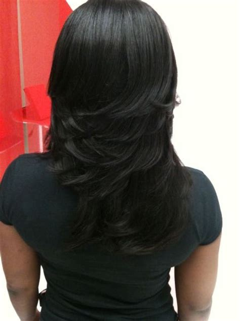 sew in weave short hair atlanta layered sew in weaves razor cuts layered weaves