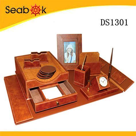 office desk set 2015 faux leather office desk set pu desk set buy pu