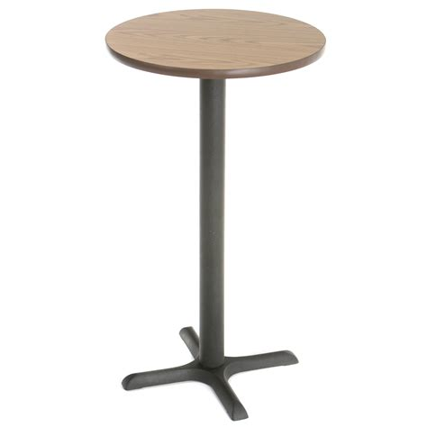 high top round bar tables obsidian 24 quot round pub table black walmart com