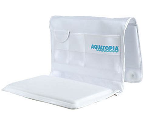 bathtub kneeler aquatopia bath tub easy kneeler and organizer qvc com