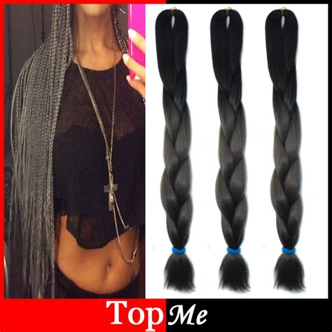 kanekolan hair black white grey ombre expression afro kanekalon cornrow women braiding