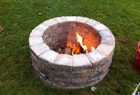 how to make a simple fire pit in your backyard diy stone fire pit