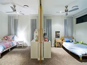 children s room bedroom design idea with carpet sliding