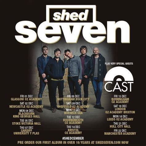 Shed Seven Singles by News Shed Seven To Release New Album In 16 Years