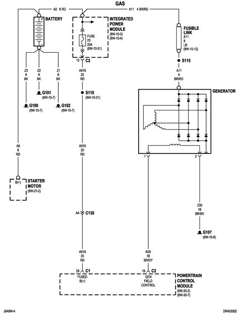 charging system wiring diagram 1991 dodge ram 3500 gas