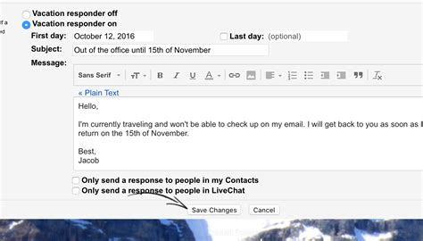 Standard Out Of Office Reply by 4 Out Of Office Message Exles That Work When You Rest