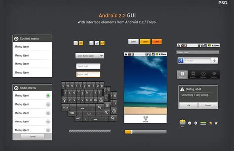free text templates for android android gui stencils kits and templates